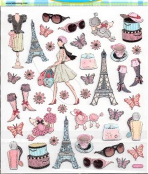 3d Sticker Paris by Paris Fashion Girl Eiffel Tower Diva Scrapbook Stickers