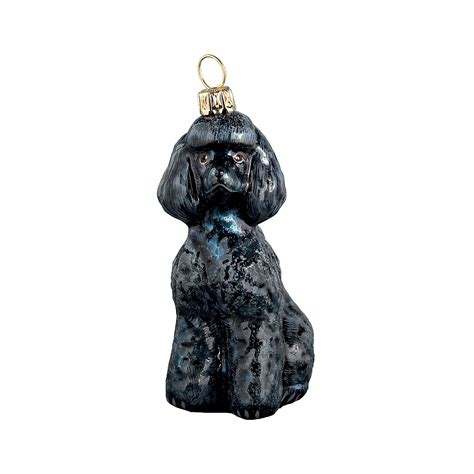 toy poodle black christmas ornament gump s