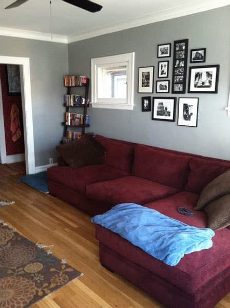 paint color to go with burgundy sofa which rug to go with burgundy home