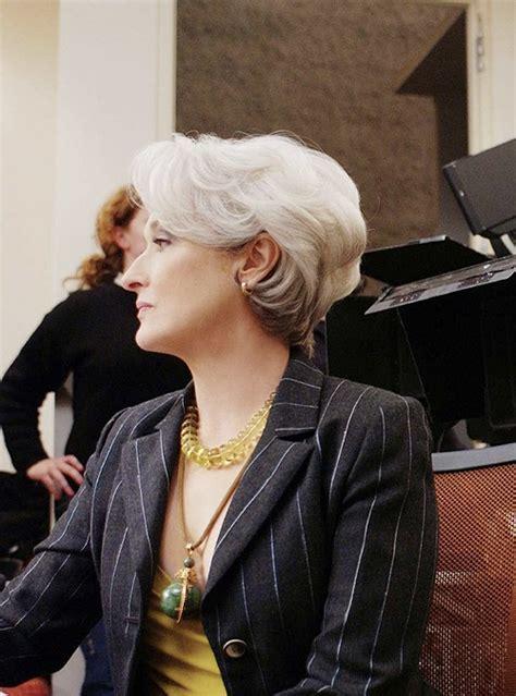 Meryl Streep Hairstyles by Meryl Streep Hairstyle In The Wears Prada