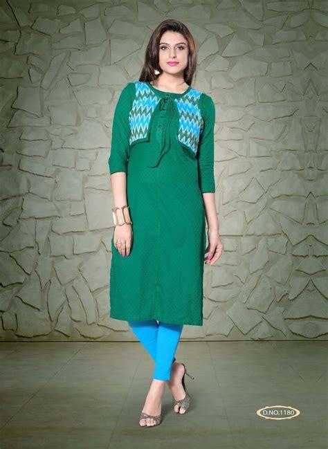 jacket pattern kurti online festival special green cotton designer kurti kurtis with