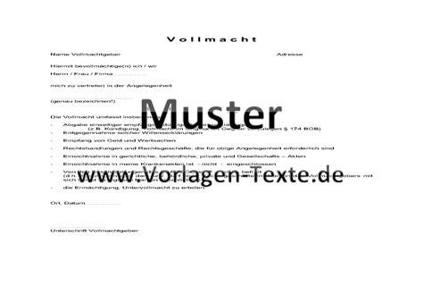 Vollmacht Schreiben Muster Finanzamt Textvorlagen Briefvorlagen Mustertexte Vorlagen