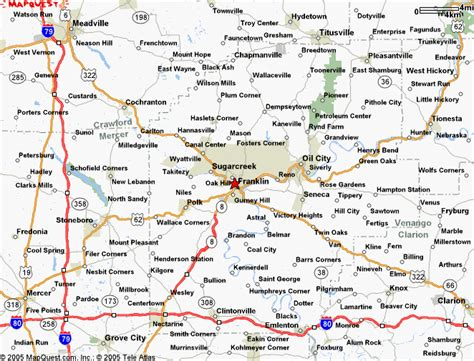 map of southwest pennsylvania precision technologies directions location