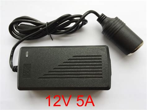 High Quality Adaptor 12v 5a 1 1pcs high quality 12v 5a car cigarette lighter power ac converter adapter for air vacuum