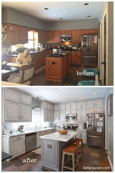 painted kitchen cabinets ideas before and after before and after pictures of kitchen cabinets painted