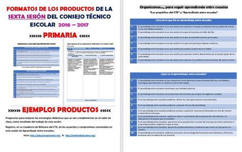 formatos de productos y material para la sexta sesin de cte marzo productos contestados de la sexta sesi 243 n del consejo