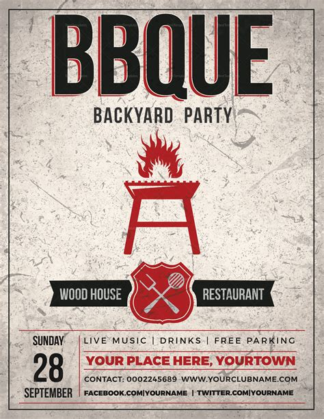 Backyard Bbq Event Flyer Design Template In Psd Word Publisher Event Flyer Template