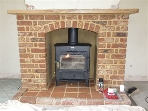 Brick Fireplaces For Wood Burning Stoves by Clearview Vision Wood Burning Stove With Brick Arch Shelf