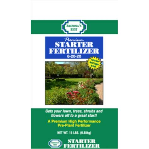 arizona s best 15 lb lawn starter fertilizer azb10024