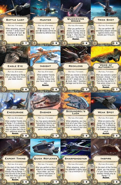 X Wing Printable Cards
