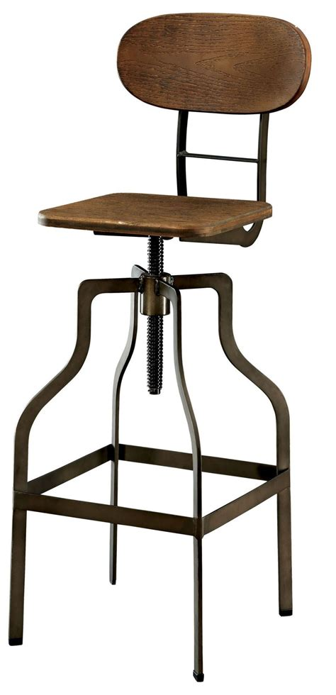 oak bar stools swivel leith oak swivel bar stool from furniture of america cm