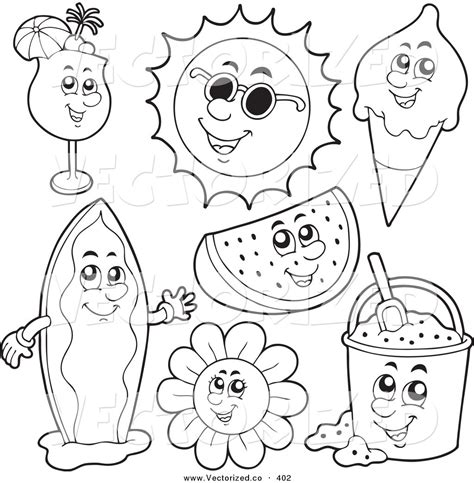 coloring pages summer beach clothes coloring pages