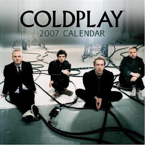 Calendar Play 2007 Photo Calenders Coldplay Calendars Posters T Shirts