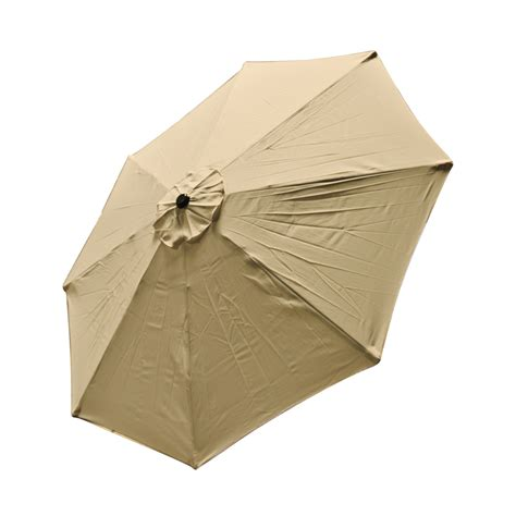 Patio Market Outdoor 9 Ft 8 Ribs Umbrella Cover Canopy Tan Patio Umbrella Canopy