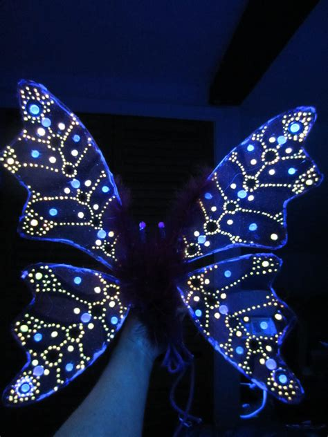 Children S Or Adult Glow In The Dark Fairy Wings Costume Light Up Wings