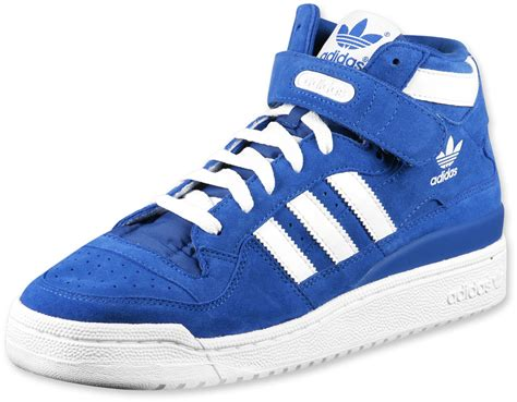 adidas forum mid shoes pureblue wht