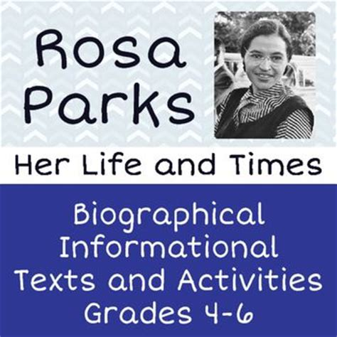 rosa parks biography for students 130 best my tpt items biography images on pinterest