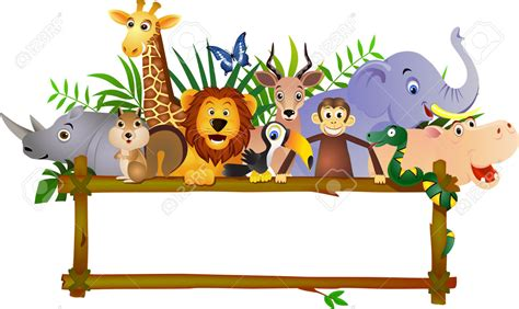 baby jungle animal border clip jungle safari clipart collection