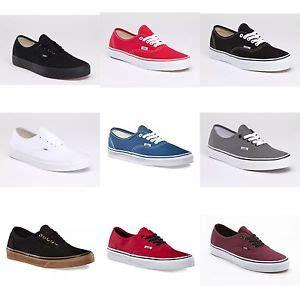 vans colors vans new authentic classic sneakers sizes shoe