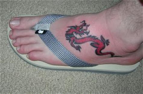 tattoo dragon on foot dragon tattoo on foot tattoos photo gallery