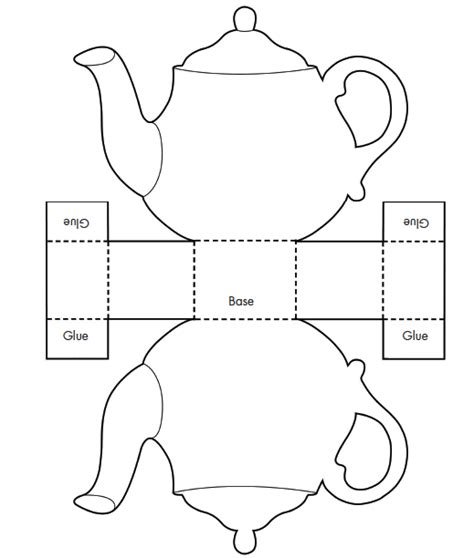 Teapot S Day Card Printable Template by Tea Decoration Teapot Favor Box With Tea