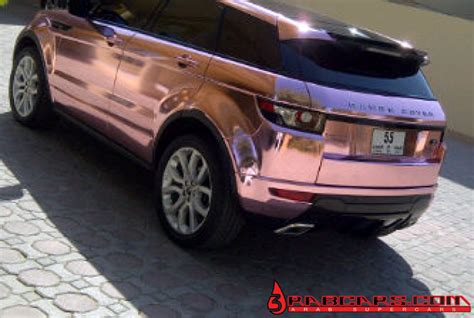 gold chrome range rover pink chrome range rover evoque foiled in diablo private