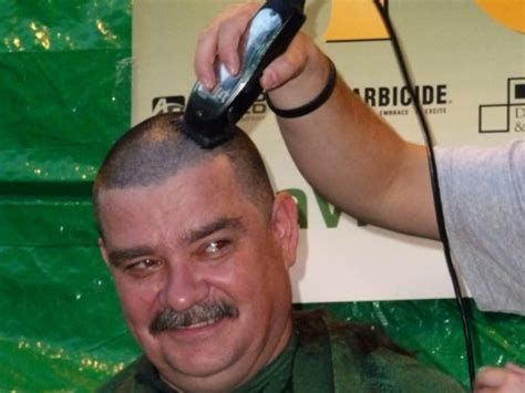 shaves head for cancer shave your head for cancer at annual st baldrick s