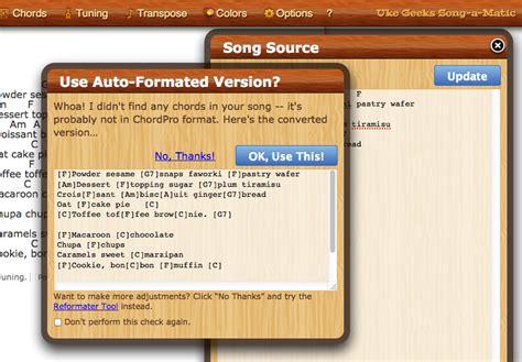 chordpro format converter ukegeeks project blog ukulele song editor tools