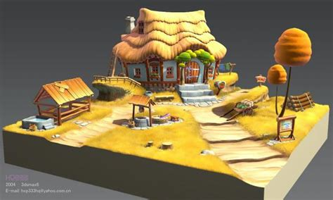 Free 3d House Design Software a cartoon scene 3d and 2d art sharecg