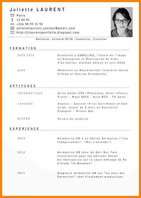 Curriculum Vitae Francais by Le Cv Business Templates Curriculum Vitae Curriculum Vitae