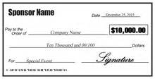 Large Check Template by Large Checks Business Large Checks Signazon