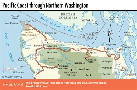 map of oregon and washington coast pacific coast route through washington state road trip usa