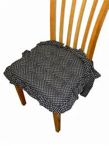Country Kitchen Chair Cushions With Ties - dining chair pad with ruffle and bow ties chair pads galore and more