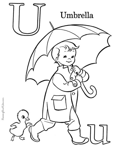 coloring pages for u abc picture to color letter u 025