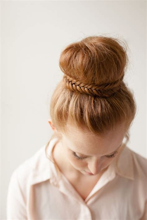 howtododoughnut plait in hair how to dress up your fishtail braid the hairstyle blog