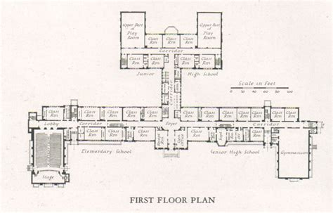 architecture school floor plan elementary school building design plans elementary