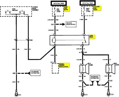 wiring diagram for 1984 c10 horn circuit 40 wiring