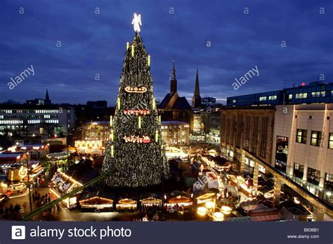 where is the biggest chistmas tree in the whole world dortmund germany the largest tree of the world on the stock photo 20969173 alamy