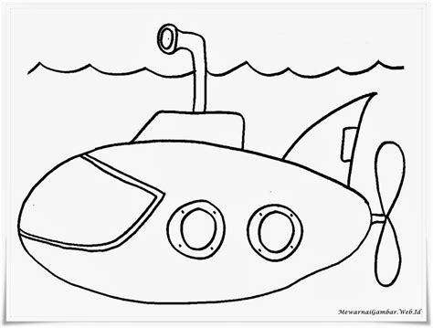 mewarnai gambar kapal selam mewarnai gambar