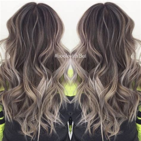 ash brown with ash blonde balayage pictures beautiful long dark brown hair with lots of cool tone ash
