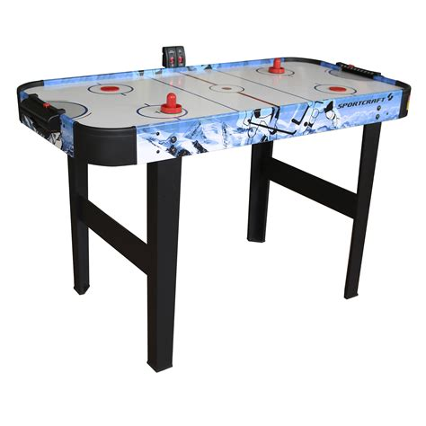 air hockey table length sportcraft 48 quot air hockey table with electronic scorer