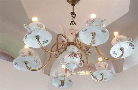 Teacup Chandelier Diy 20 Inspiring Ideas Of How To Reuse Teacups And Teapots