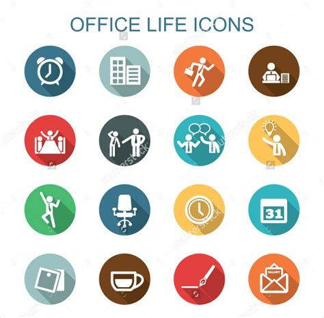 Icon Design Office | 22 office and workplace icons png eps svg format
