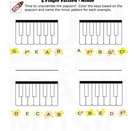 music pattern activities fun and learn music 187 music worksheets 5 finger pattern