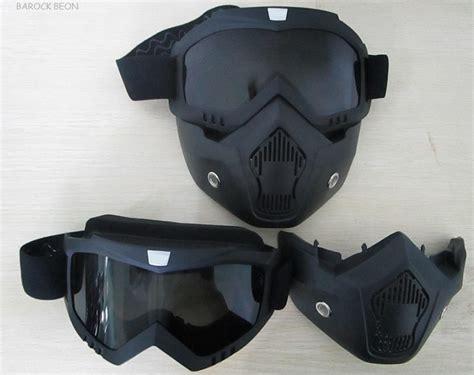 New Model Goggle Masker Mask Modular Shark Sepeda Motor Motocross shark style mask with goggles smoke visors