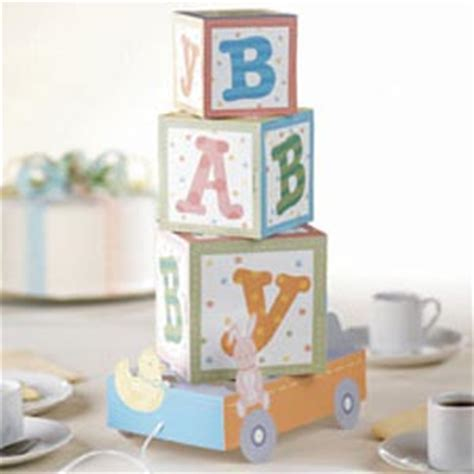abc baby block centerpiece baby shower decorations