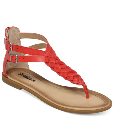 sandals flat lucky brand s carrolle flat sandals in lyst