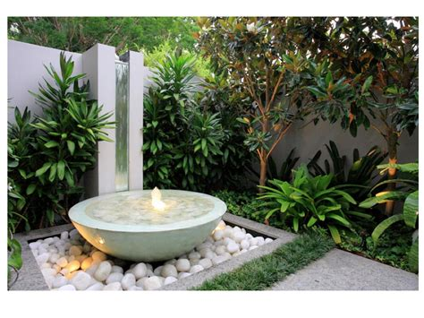 garden design water feature ideas west end cottage small gardens for