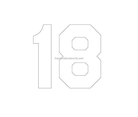 free jersey printable 18 number stencil