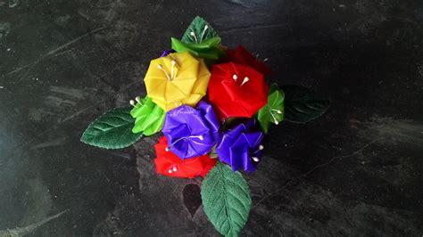 cara membuat bunga dari kertas krep dan lidi diy kerajinan tangan bahan bekas dari sedotan membentuk